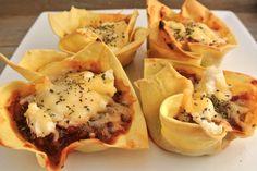 Mini lasagna hapjes - Lekker en Simpel
