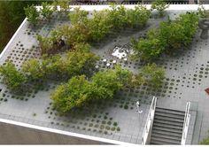 Keio University Roof Garden, Tokyo, Japan by Michel Desvigne