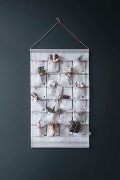 Grey Christmas Calendar design by Ferm Living Christmas Calendar, Kids Calendar, Calendar Design, Christmas 2016, Christmas Crafts, Christmas Decorations, Holiday Decor, Calendar Time, Calendar Wall