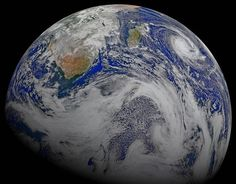 A Sky View of Earth From Suomi NPP.This composite image of southern Africa and the surrounding oceans was captured by six orbits of the NASA/NOAA Suomi National Polar-orbiting Partnership spacecraft on April 9, 2015 [NASA]