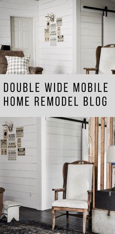 Farmhouse Double Wide Remodel - Mobile Home Design İdeas 2020 Mobile Home Renovations, Mobile Home Makeovers, Remodeling Mobile Homes, Home Upgrades, Kitchen Makeovers, Bathroom Makeovers, Double Wide Remodel, Double Wide Home, Double Wide Mobile Homes