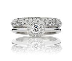 12 Engagement Rings We Really, Really (Really) Want -  Victoria Buckley: Tatiana Engagement Ring and Silk Road Wedding Band