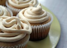 Spice Cupcakes with Creamy Brown Sugar Frosting