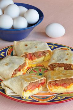 Breakfast Burritos, great for grab and go, quick to make, easy yummy meal for anytime!