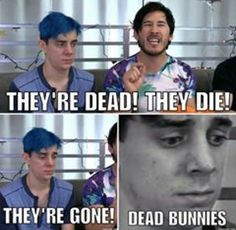 Aww poor Ethan it's ok buddy there's a whole lot Pewdiepie, Markiplier Memes, Ethan Crankgameplays, Mark And Ethan, Dead Bunny, Cryaotic, Youtube Memes, Darkiplier, Septiplier