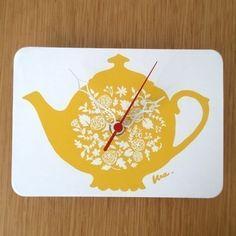 Clock - Tea Pot
