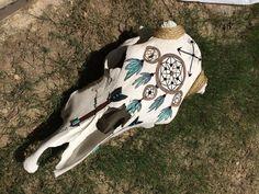 Dream Catcher Cow Skull