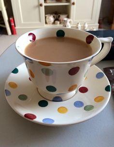 Emma Bridgewater Polka new cup and saucer Coffee Klatch, Tea Holder, Emma Bridgewater Pottery, Cute Cups, Connect The Dots, Tea Mugs, High Tea, Afternoon Tea, Tea Time