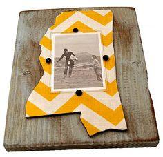 Mississippi Frame Yellow Chevron... LOVE!!
