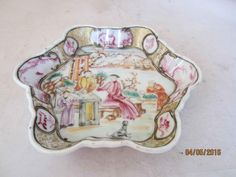 .18TH century chinese qianlong famille rose spoon tray. OSELLAME'S COLLECTION.