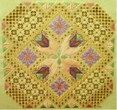 Summer Serenade- hardanger embroidery. summer serenad, gold beauti, hardang embroideri, embroidery designs, hardanger embroidery