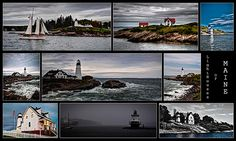 As my quest continues to photograph lighthouses in the United States, these are just a few I was fortunate to capture along the East Coast off the shores of Maine. The lighthouses featured in this collection are as follow: Portland Head Light, Ram Island ledge Light, Squirrel Point Lighthouse, Spring Point Ledge Light, Burnt Island Lighthouse and the Perkins Island Lighthouse.  Lighthouse Collection Maine Photography