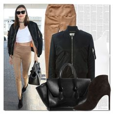 """""""Airport Style :  Miranda Kerr"""" by fattie-zara ❤ liked on Polyvore featuring Topshop"""