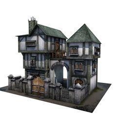 3d model of tudor house