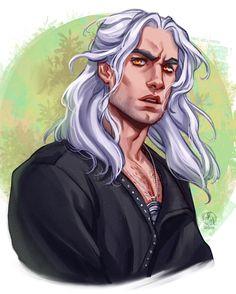 ArtStation - Geralt of Rivia - The Witcher , N/ Ithilnaur The Witcher Series, The Witcher Books, The Witcher Geralt, Witcher Art, Live Action, Witcher Wallpaper, Foto Portrait, Anime, Art Tutorials
