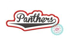 Panthers Controured Machine Embroidery Applique Design by KissMyGritsDesigns on Etsy
