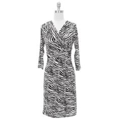 Black & White Exotic Zebra Print Long Sleeve « Dress Adds Everyday