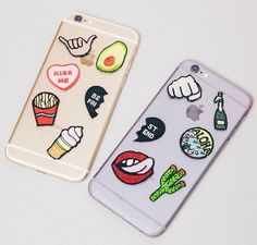 now you can even patch your phone case with Hipstapatch peel-and-stick patches. Photo by @peppermayo