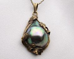 necklace - Art Nouveau pearl