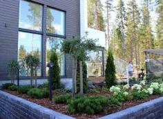 Pihaideoita asuntomessuilta | Kotona paras Landscape Design, Garden Design, Backyard, Patio, Gardening Tips, Terrace, New Homes, Landscaping Ideas, Temple
