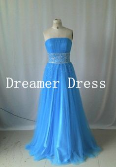 Cheap prom dress, Blue prom Dress, Long Prom Dress , Bule Prom Gown,long  Evening Dresses . elegant Formal dresses