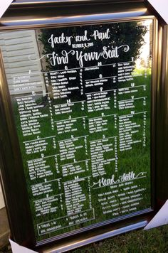www.coastalcalligraphy.etsy.com Wedding mirror seating charts