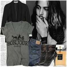 """BONJOUR JOHNNY DEPP."" by elizabethcarter on Polyvore"