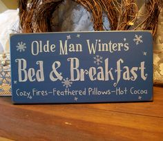 Olde Man Winter Bed and Breakfast - no instructions but way cute idea to copy