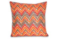 Janet 20x20 Pillow, Retro Orange on OneKingsLane.com