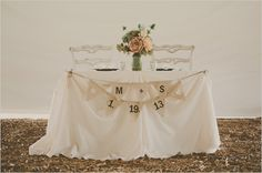 shabby chic sweetheart table decoration ideas