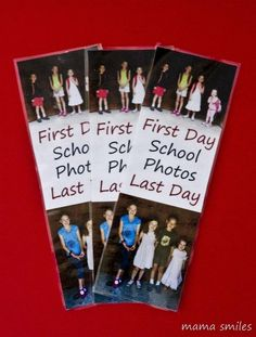 DIY marque page avec la photo de votre enfant en début d'année et en fin d'année scolaire