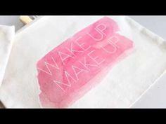 Video Tutorial: DIY Make Up Bags