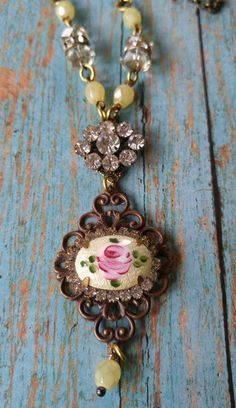 Upcycled necklace repurposed vintage jewelry by RustySpiderweb