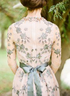 Grey and Blush Wedding Gown