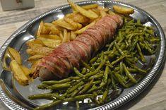 Elämää Koivurannassa: Pekoniin kääritty possun sisäfile Asparagus, Green Beans, Vegetables, Food, Studs, Essen, Vegetable Recipes, Meals, Yemek