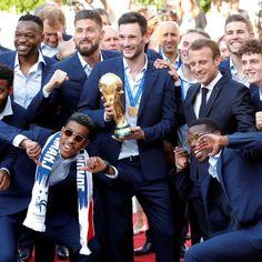 France National Football Team, France Football, Champion Du Monde Foot, Beaux Couples, Brigitte Macron, Antoine Griezmann, World Cup 2018, Sport, Football Players