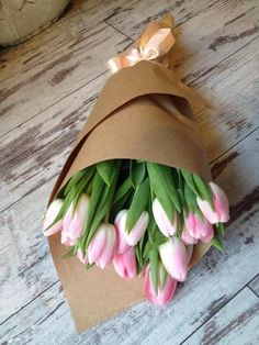 Love giving fresh flowers as a gift such a classy way to wrap them