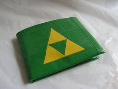 Velcro Pockets Green Duct Tape Triforce Wallet by QuirkyQrafts, $11.00