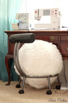 Home Sewn Series: Ball Chair Makeover | Alida Makes