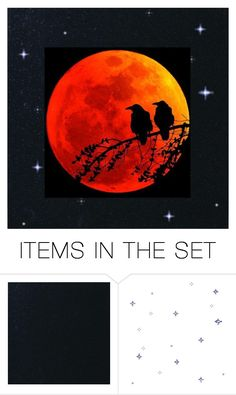 Blood Moon by glassdreamshawaii on Polyvore featuring art, starrynight and bloodmoon