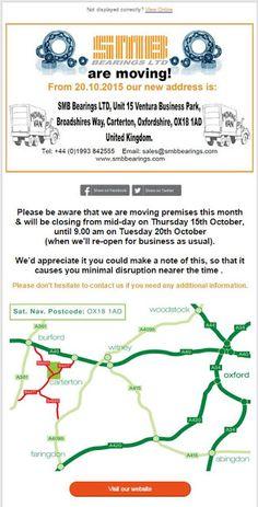 SMB Bearings Ltd Blog: SMB Bearings Ltd are moving premises this month......