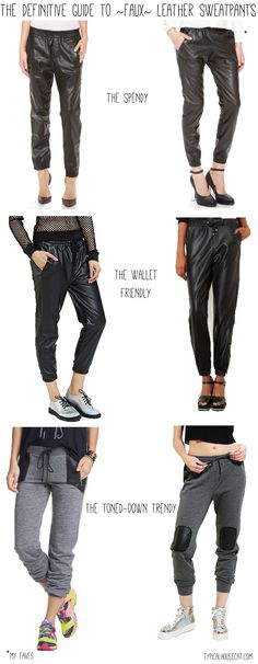 Leather Joggers - need these ASAP!