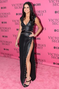 Selena Gomez rocked this Louis Vuitton dress at the 2015 Victoria's Secret Fashion show. Click through to see what other celebs made our best dressed list: