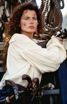 Geena Davis Pirates of Cutthroat Island Pirate Woman, Pirate Life, Divas, Geena Davis, Hollywood, Treasure Island, Sci Fi Fantasy, Fantasy Movies, Pirates Of The Caribbean