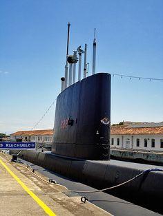 A black submarine - Museu da Marinha - Rio de Janeiro - Brazil