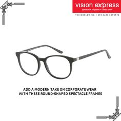 Make a strong statement at work with these bold spectacle frames Model -VX GV JULIUS JUCM18 BB.52