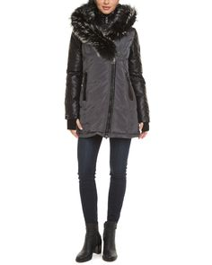 Spotted this Nicole Benisti Gunmetal Leather Trim Down Jacket on Rue La La. Shop (quickly!).