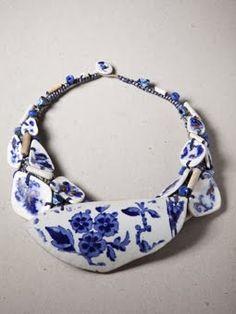 Amanda Caines - Neckpiece of salvaged ceramic