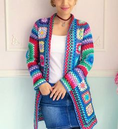 Wonderful and Cool Crochet Cardigan Sweet Patterns and Ideas Part crochet cardigan pattern; crochet cardigan with hood; crochet cardigan plus size; Crochet Bracelet Pattern, Crochet Cardigan Pattern, Granny Square Crochet Pattern, Crochet Squares, Easy Crochet Patterns, Tutorial Crochet, Crochet Coat, Crochet Clothes, Granny Square Sweater
