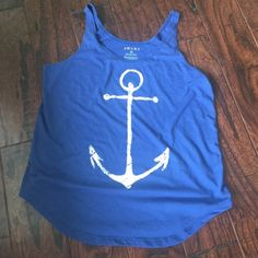 Tank top ⚓️ Anchor tank top worn once! Bought for $25 selling for $5 OBO! Tops Tank Tops